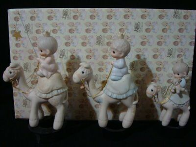 Precious Moments-3 Kings Riding Camels Mini Nativity Additions-$255 Value!