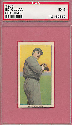Psa 5 Ex Graded T206 Ed Killian Pitching 1909 Sweet Caporal *graded Tobacco Card