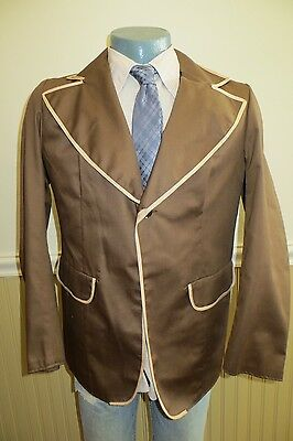 Vintage 60's English Made 40 Cotton Rowing Oxford Trad Single Button Sportcoat