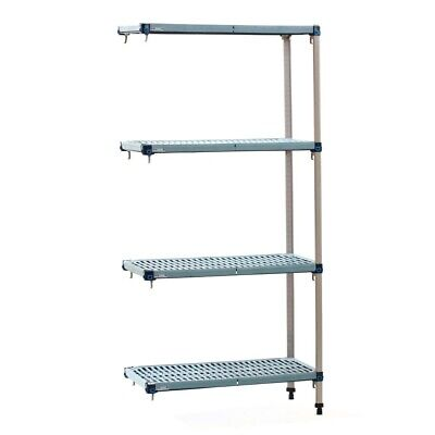 Metro Max Q Polymer Posts Shelving Add-On Kit 4 Shelves 1590x910x460mm