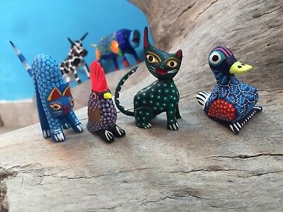 12 Alebrijes Whole Sale Lot 12 Pieces Dif. Sizes Animals 12 Figures Oaxacan LotB