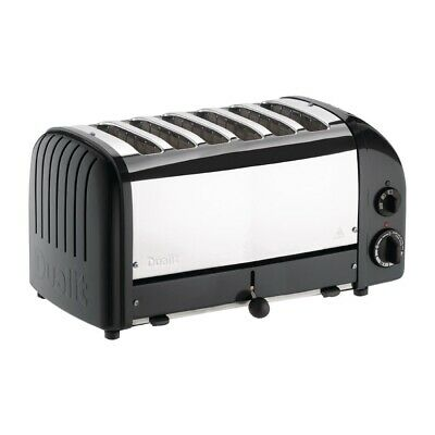 Dualit 6 Slice Vario Toaster Black 60145 (Next working day UK Delivery)
