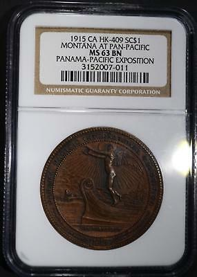 1915-CA HK-409 SO CALLED DOLLAR, NGC MS63 BN Lot 277