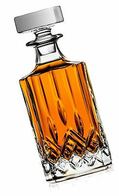 Crystal Decanter for Liquor, Whiskey & Scotch - Capacity 720ml (24 Oz.) | Wit...