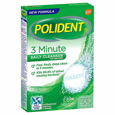 Polident Denture Cleanser 36 Tablets
