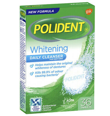 Polident Whitening Denture Cleanser 36 Tablets