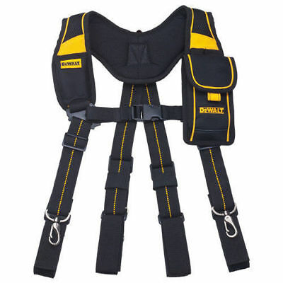Dewalt Pro Work Tool Belt Mobile Pouch Adjustable Suspender DWST80915-8