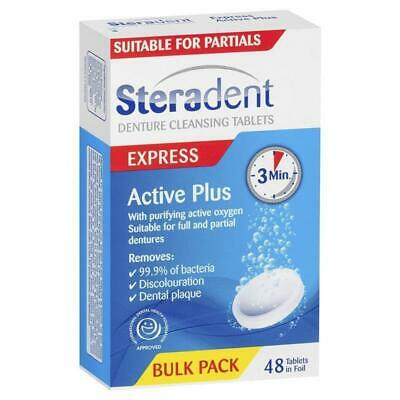 Steradent Active Plus Denture Cleansing 48 Tablets