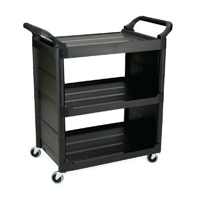 Rubbermaid Light Duty Service Utility Cart Black (Next working day UK Delivery)