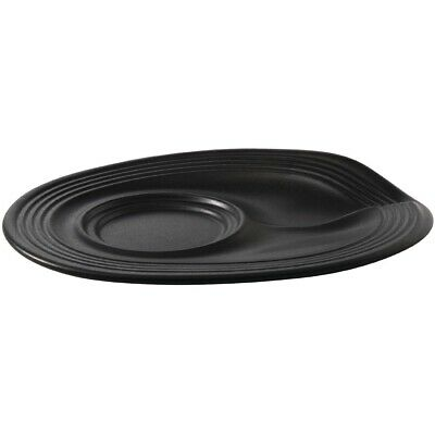 Revol Froisses Cappuccino Saucers Black 175mm (Pack of 6)