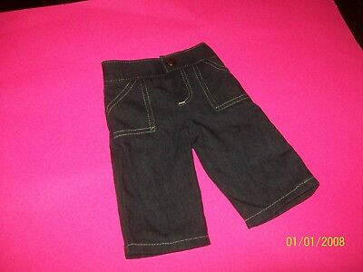 FITS CABBAGE PATCH SOFT SCULPTURE xavier doll CLOTHES    jeans WHITE thread trim