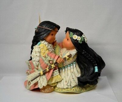 "1998 Friends of the Feather Karen Hahn Figurine ""Be One Heart, One Spirit"""