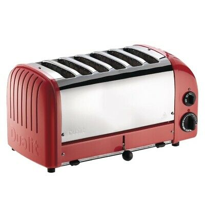 Dualit 6 Slice Vario Toaster Red 60154 (Next working day UK Delivery)