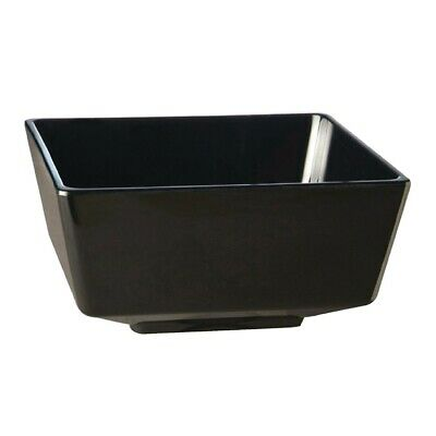 APS Float Black Square Bowl 10in (Next working day UK Delivery)