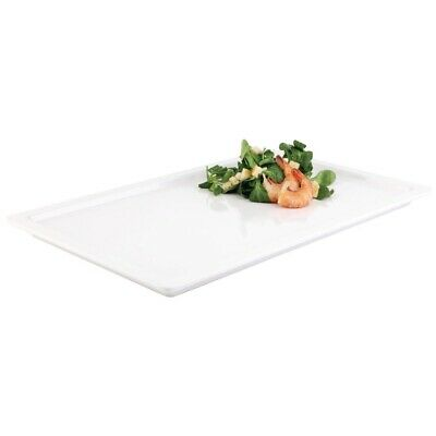 White 1/2 GN Rectangular Buffet Tray (Next working day UK Delivery)