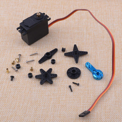 MG996R Digital Metal Gear Torque Servo Horn Kit For Futaba RC Truck Racing Black