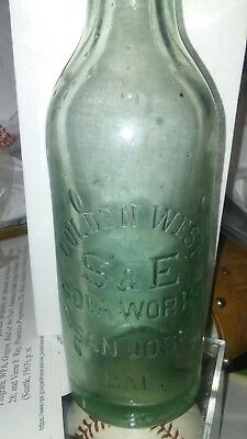 Golden West S & E soda works San Jose ,Cal. early crown top soda