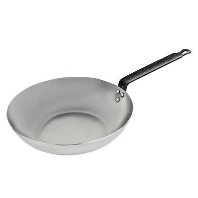 Vogue Black Iron Wok 280mm (Next working day UK Delivery)