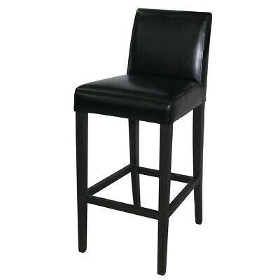 Bolero Faux Leather High Bar Stool Black (Next working day UK Delivery)