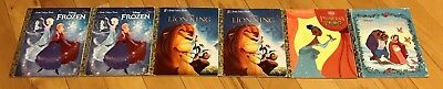 Lot of 6 Little Golden Books - Disney Motion Picture Collection Good Condition!