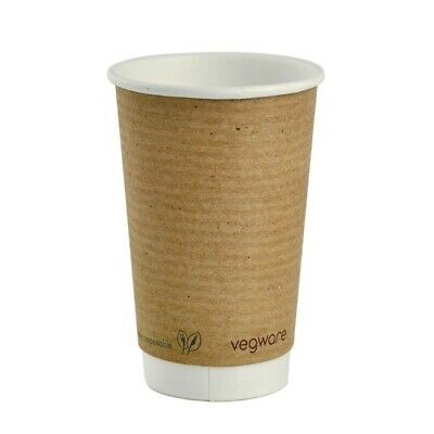 Vegware Compostable Disposable Hot Cups  455ml / 16oz (Pack of 400)