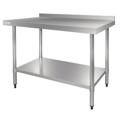 Vogue Stainless Steel Table with Upstand 600mm (Next working day UK Delivery)