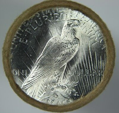 """$20 Silver Peace Dollar Roll BU Uncirculated Unc """"P"""" Mint Ends 90% Silver O67"""