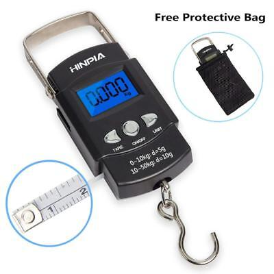 Hinpia Fishing Scale 110lb/50kg Backlit LCD Display Portable Electronic...