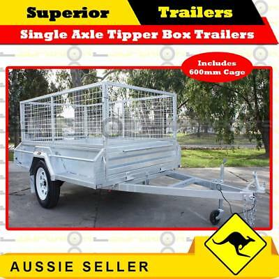 SUPERIOR 6x4 Single Axle Tipper Box Trailer With 600mm Cage - ATM 750KG