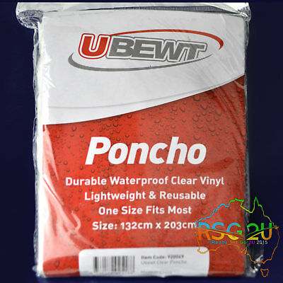 Ubewt Waterproof Rain Poncho Reusable Stay Dry Jacket One Size Fits Most