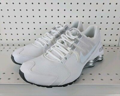 more photos 725f4 8d65d Nike Shox Avenue Mens Running White Silver-Black Nike (833583-101)
