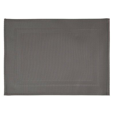 APS PVC Placemat Fine Band Frame Grey (Pack of 6) (Next working day UK Delivery)