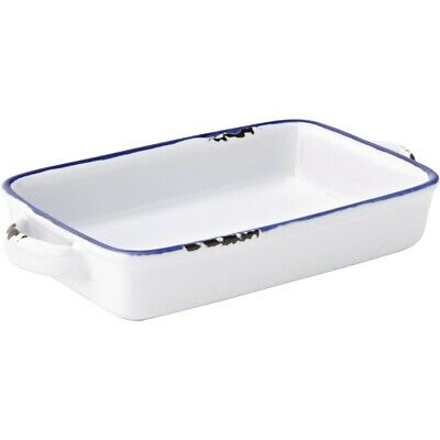 Utopia Avebury Blue Small Rectangular Dish 175mm (Pack of 12)