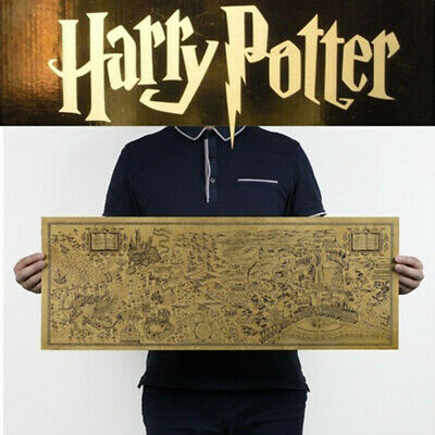 72x26cm Harry Potter Map Collectors Poster Magic Wizarding Poster Old World Map
