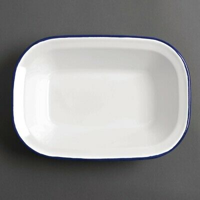 Olympia Enamel Dishes Rectangular 280 x 190mm (Pack of 6)