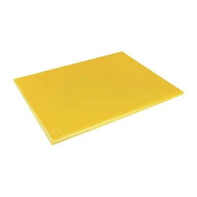Hygiplas Extra Thick High Density Yellow Chopping Board Large