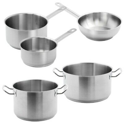 Special Offer - 5 Vogue Pack Of Casserole, Stew and Saute Pans