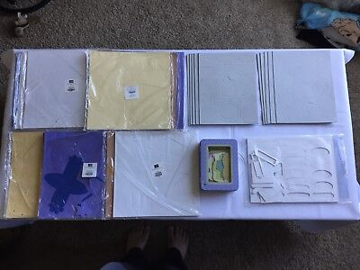 Mixed Lot Of Die Cut Favor Boxes & Tags, And Chipboard Elements