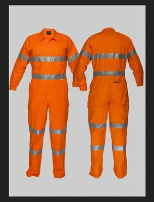 PRIME MOVER WORK WEAR Size 87R Mens Coveralls CH Flame Retardant FREE POSTAGE