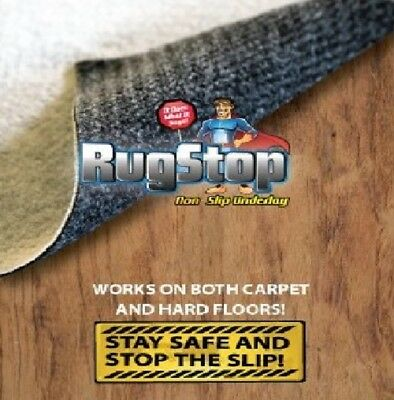 Rug Stop Non Slip Underlay Double Sided for Carpet and Hard Floors