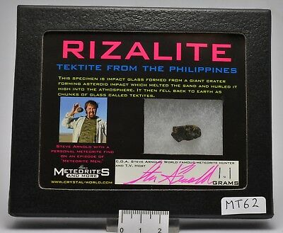 Tektite Rizalite From The Philippines (Mt62)