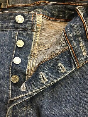 Faded Levis 501 Jeans 38 x 34 37 x 30 Vintage Made in USA Button Fly Workwear
