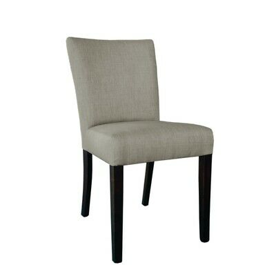 Bolero Contemporary Dining Chair Natural Hessian (pack of 2)