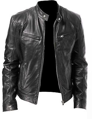 e812f78cf MENS SOA CLUB Style Cut Zipper & Snap Front Naked Leather Shirt ...