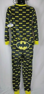 DC Comics Batman Pajamas One Piece Drop Seat Fleece Size Small Unisex NWT NEW