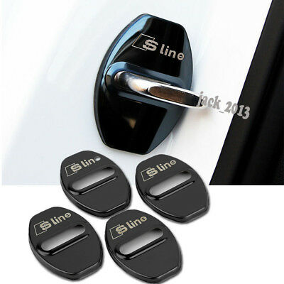 4pcs Car Door Lock Covers black  For AUDI S line A4L/Q5 /A3 /A5 /A6L Q3 Q7