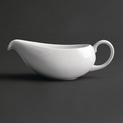 Royal Porcelain Classic White Gravy Boat 380ml (Pack of 2)