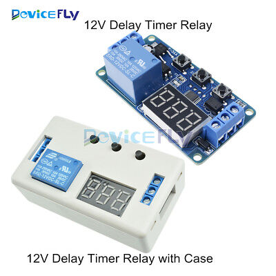 12V LED Home Automation Delay Timer Control Switch Relay Module with Case or not