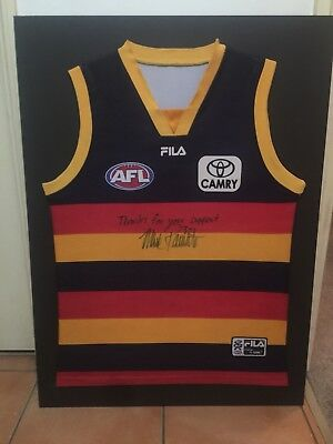 Mark Ricciuto Adelaide Crows AFL Signed Guernsey Mounted Ready To Frame