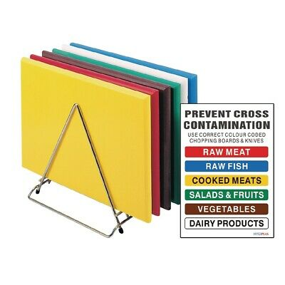 Hygiplas Standard High Density Chopping Board Set (Next working day UK Delivery)